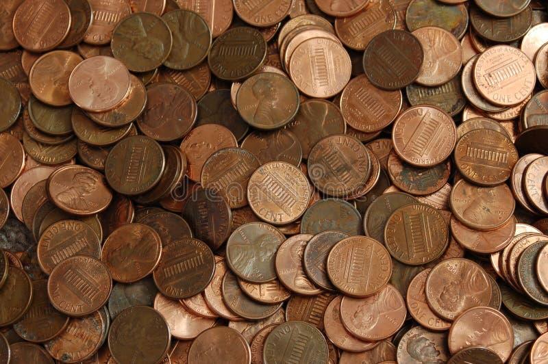 Priorità bassa del penny fotografie stock libere da diritti