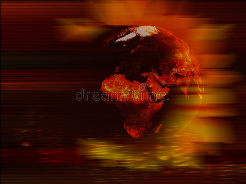 Priorità bassa del pianeta della terra illustrazione vettoriale