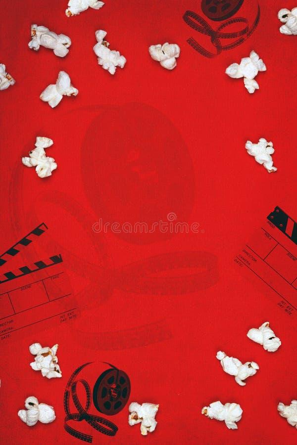 Priorità bassa del popcorn di film immagine stock