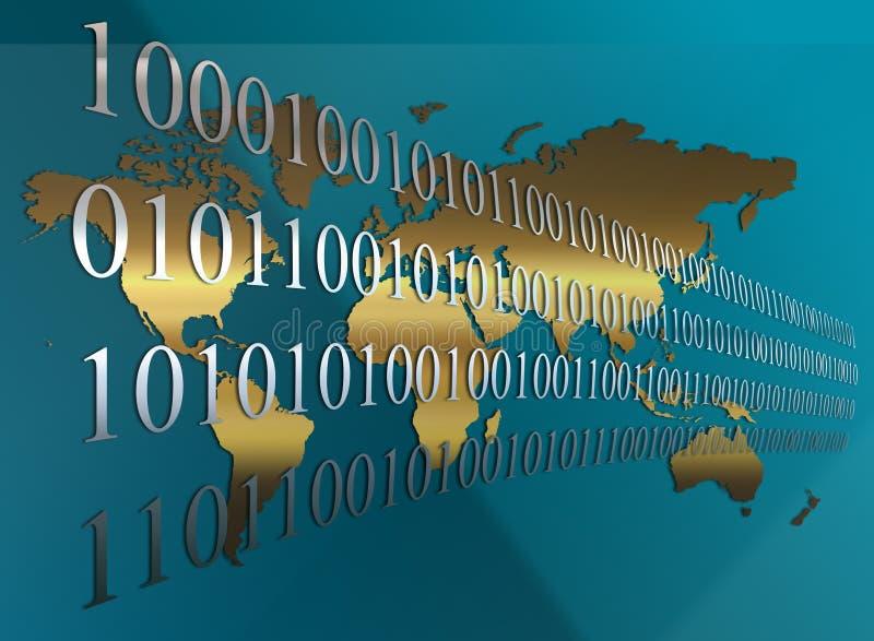 Priorità bassa del programma di mondo di codice binario illustrazione di stock