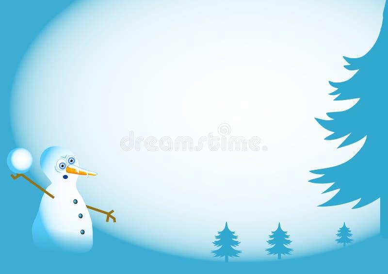Priorità bassa del pupazzo di neve illustrazione vettoriale