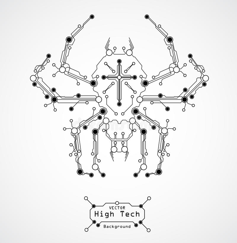 Priorità bassa del ragno del circuito illustrazione vettoriale