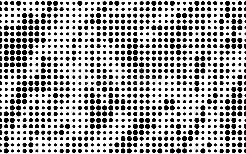 Priorità bassa del semitono di Grunge Modello punteggiato Pannello futuristico astratto Progettazione minima Illustrazione di vet illustrazione di stock
