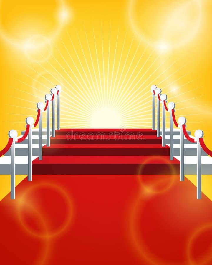 Priorità bassa del tappeto rosso illustrazione vettoriale