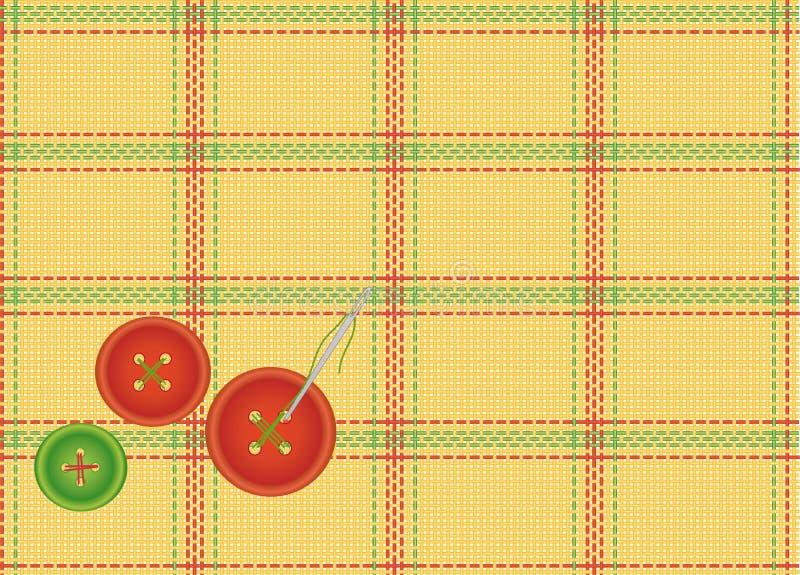 Priorità bassa del tessuto checkered con i tasti illustrazione di stock