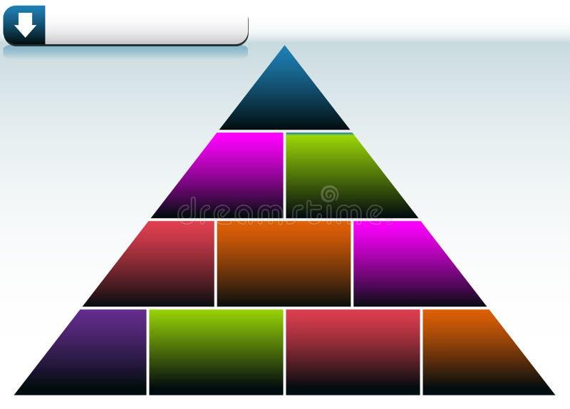 Priorità bassa del triangolo illustrazione di stock