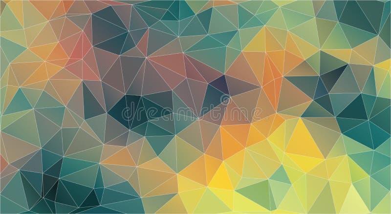 Priorità bassa del triangolo Colore d'annata originale illustrazione di stock