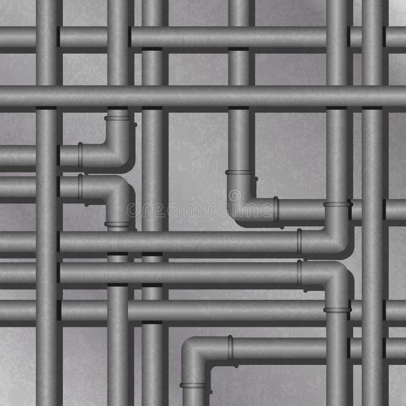 Priorità bassa del tubo del metallo illustrazione di stock
