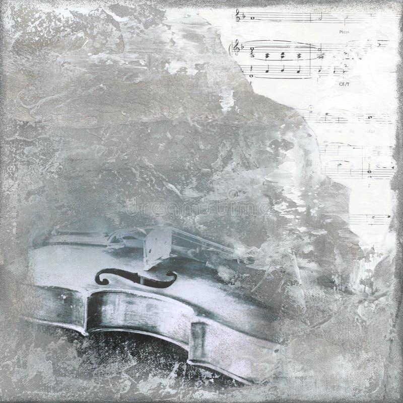 Priorità bassa del violino illustrazione di stock