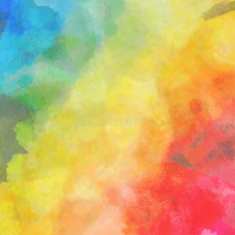 Priorità bassa dell'acquerello del Rainbow royalty illustrazione gratis