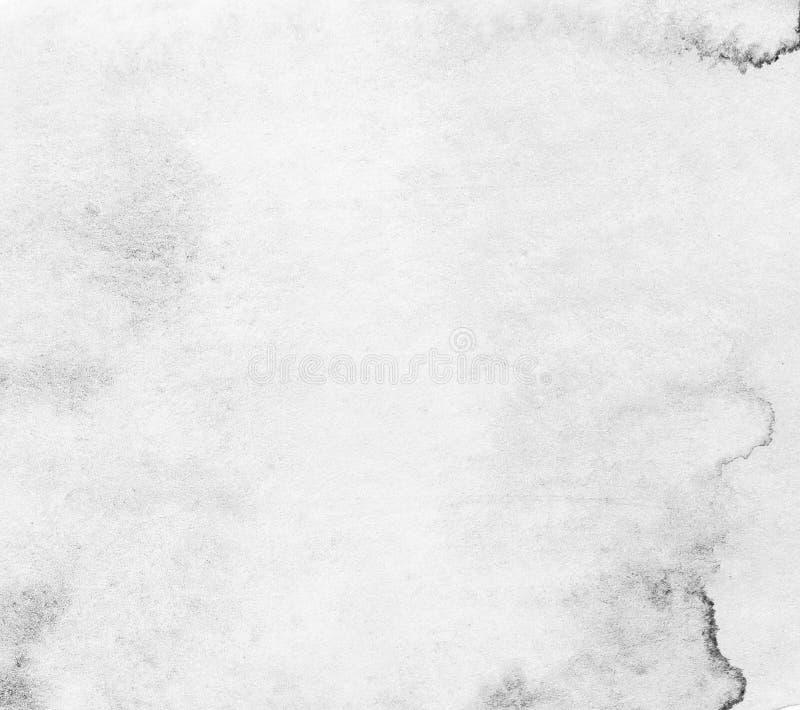 Priorità bassa dell'acquerello Struttura di carta in bianco e nero fotografia stock libera da diritti
