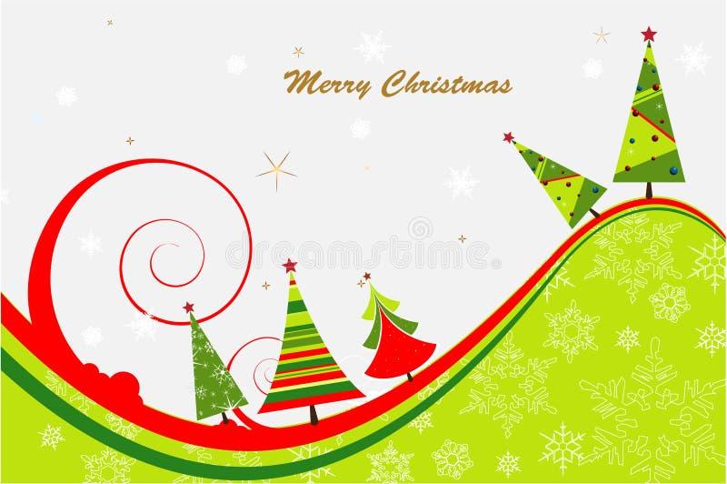 Priorità bassa dell'albero di Natale immagini stock