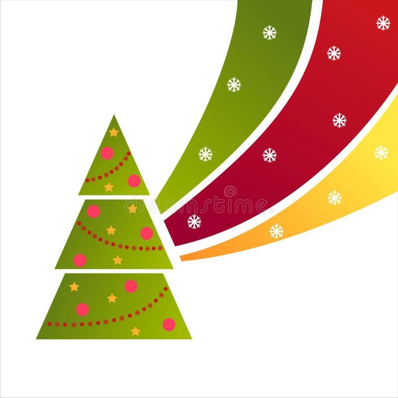 Priorità bassa dell'albero di Natale royalty illustrazione gratis