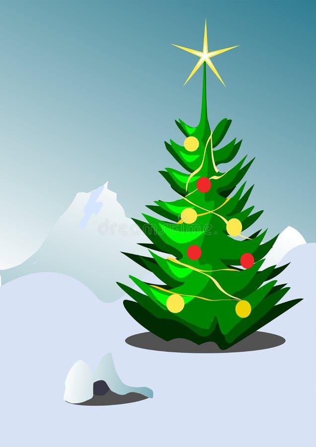 Download Priorità Bassa Dell'albero Di Natale Illustrazione Vettoriale - Illustrazione di disegno, fiocco: 3891136