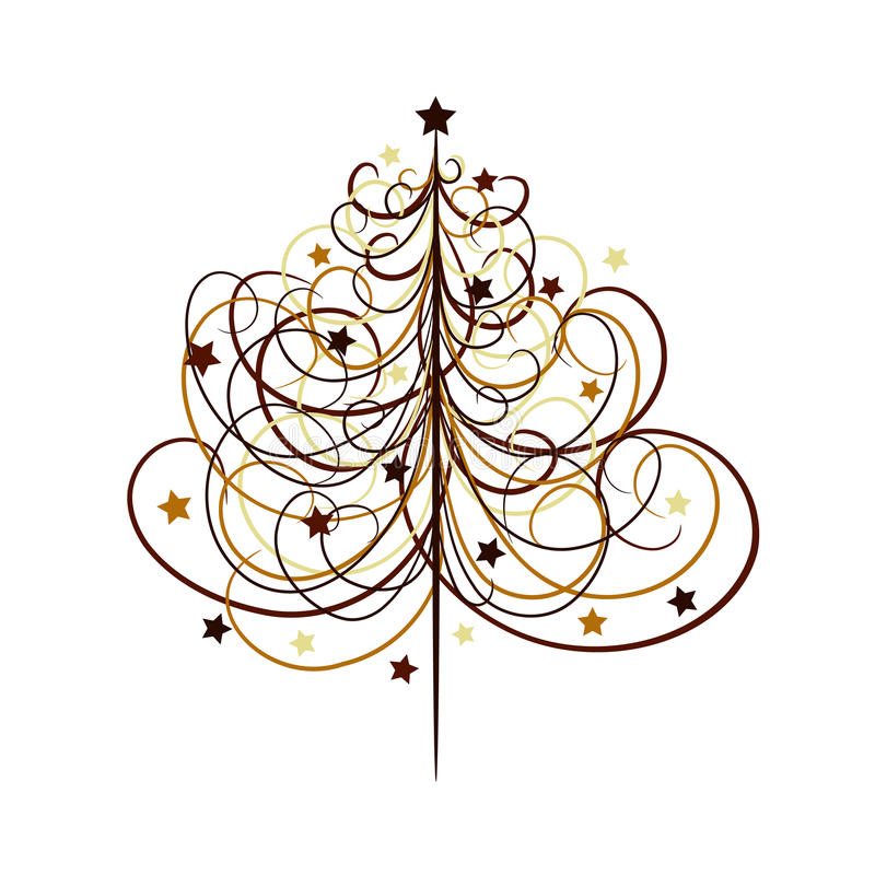Priorità bassa dell'albero di Natale, vettore illustrazione vettoriale