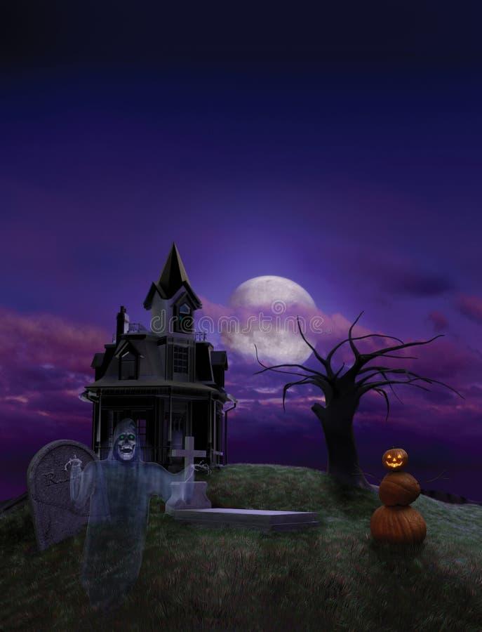Priorità bassa dell'aletta di filatoio di Halloween illustrazione di stock