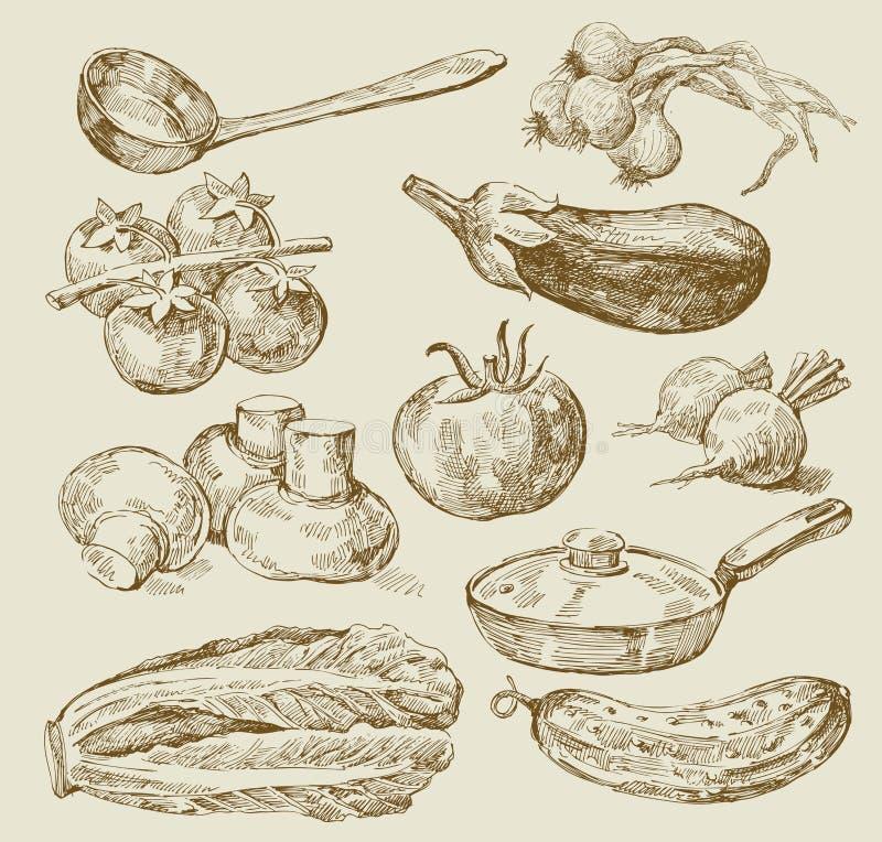 Priorità bassa dell'alimento illustrazione vettoriale