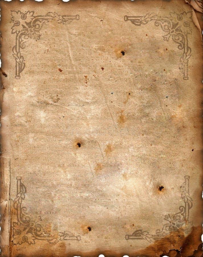 Priorità bassa dell'annata - vecchio documento. immagine stock libera da diritti