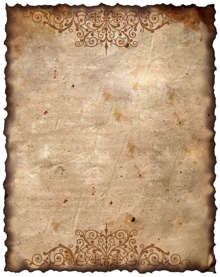 Priorità bassa dell'annata - vecchio documento fotografia stock