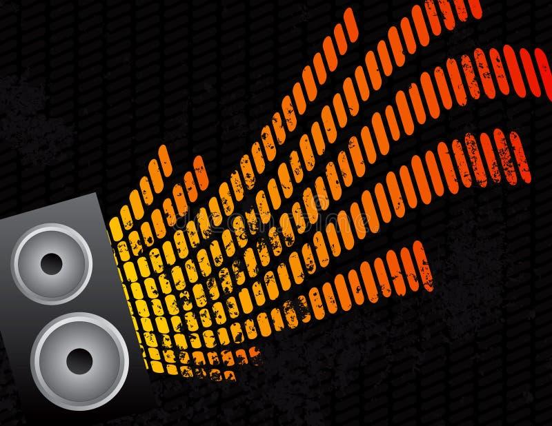 Priorità bassa dell'audio del compensatore e dell'altoparlante illustrazione vettoriale