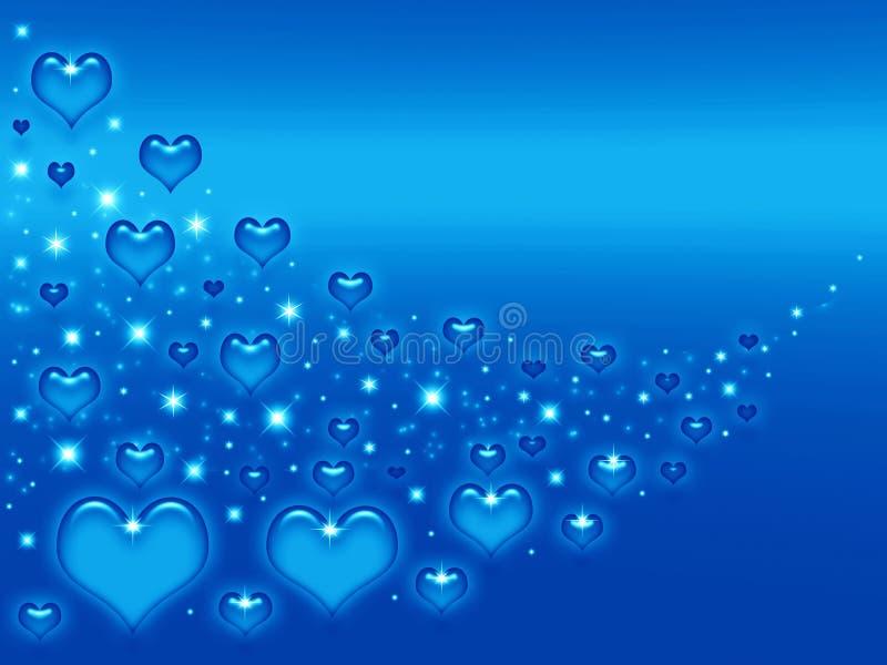 Priorità bassa dell'azzurro dei biglietti di S. Valentino illustrazione vettoriale