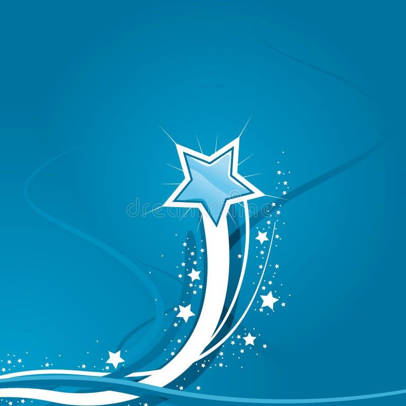 Priorità bassa dell'azzurro della stella di Swirly illustrazione vettoriale
