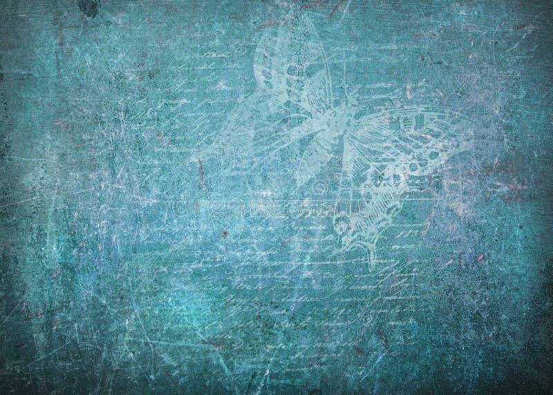 Priorità bassa dell'azzurro di Grunge fotografia stock