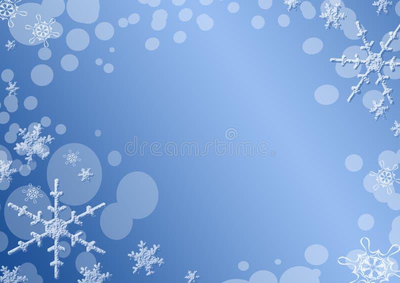 Priorità bassa dell'azzurro di inverno illustrazione di stock