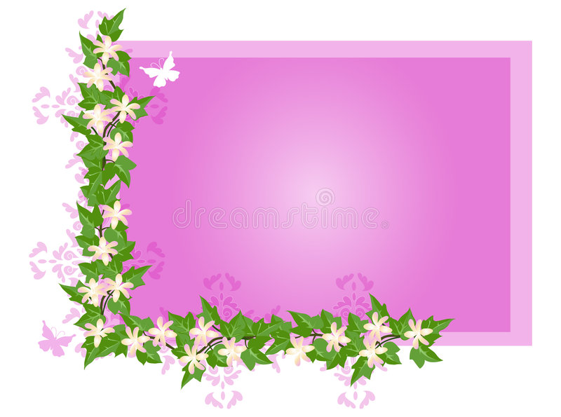 Priorità bassa dell'edera e del fiore royalty illustrazione gratis