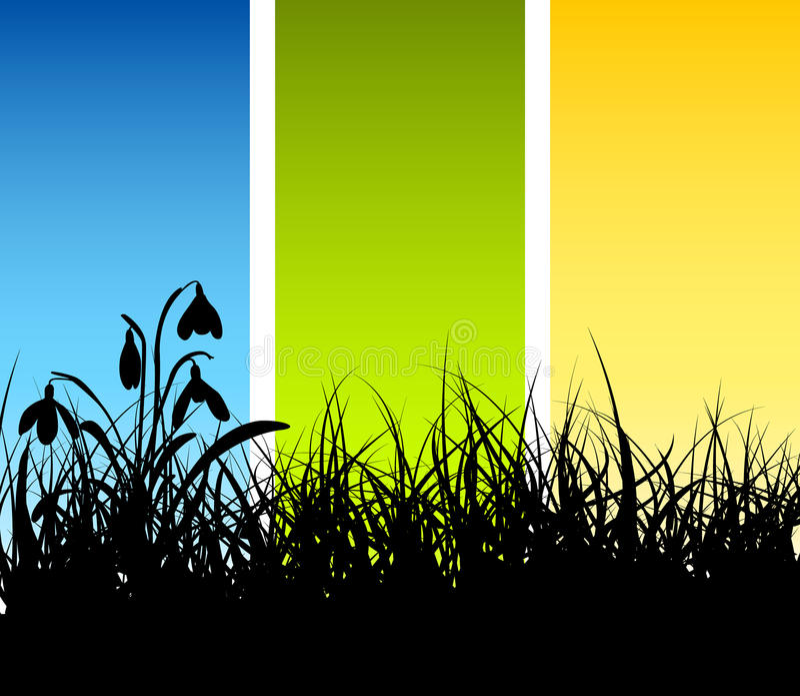Priorità bassa dell'erba di vettore della sorgente illustrazione di stock