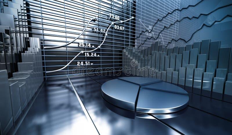 Priorità bassa dell'estratto del mercato azionario illustrazione vettoriale