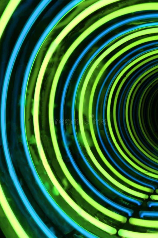 Priorità bassa dell'estratto del tubo al neon fotografia stock libera da diritti