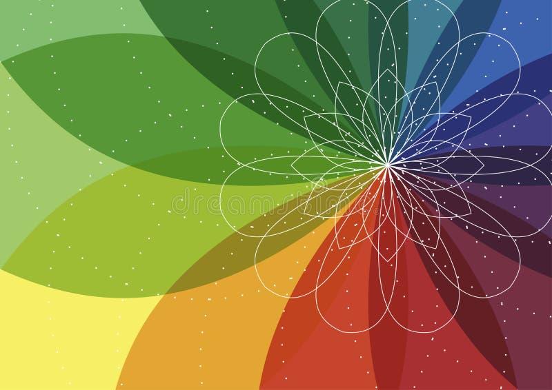Priorità bassa dell'illustrazione del fiore dello spirograph di vettore illustrazione di stock