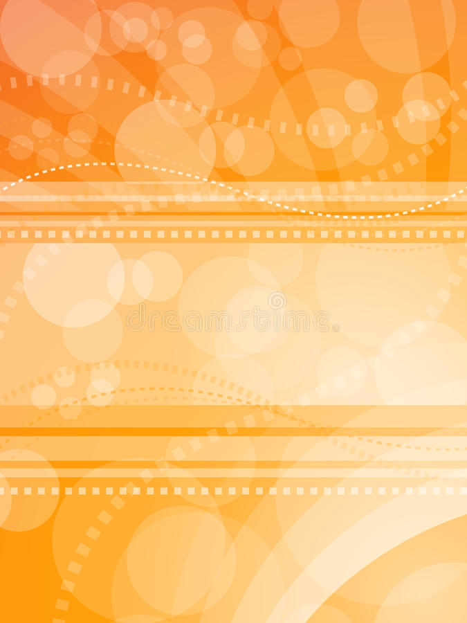 Priorità bassa dell'indicatore luminoso arancione illustrazione di stock