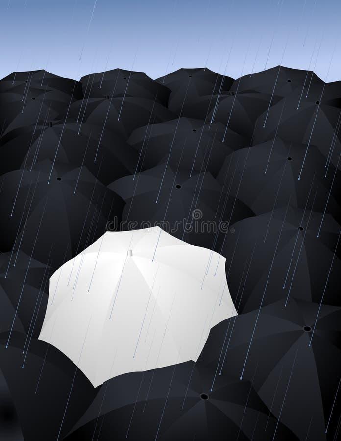 Priorità bassa dell'ombrello illustrazione vettoriale