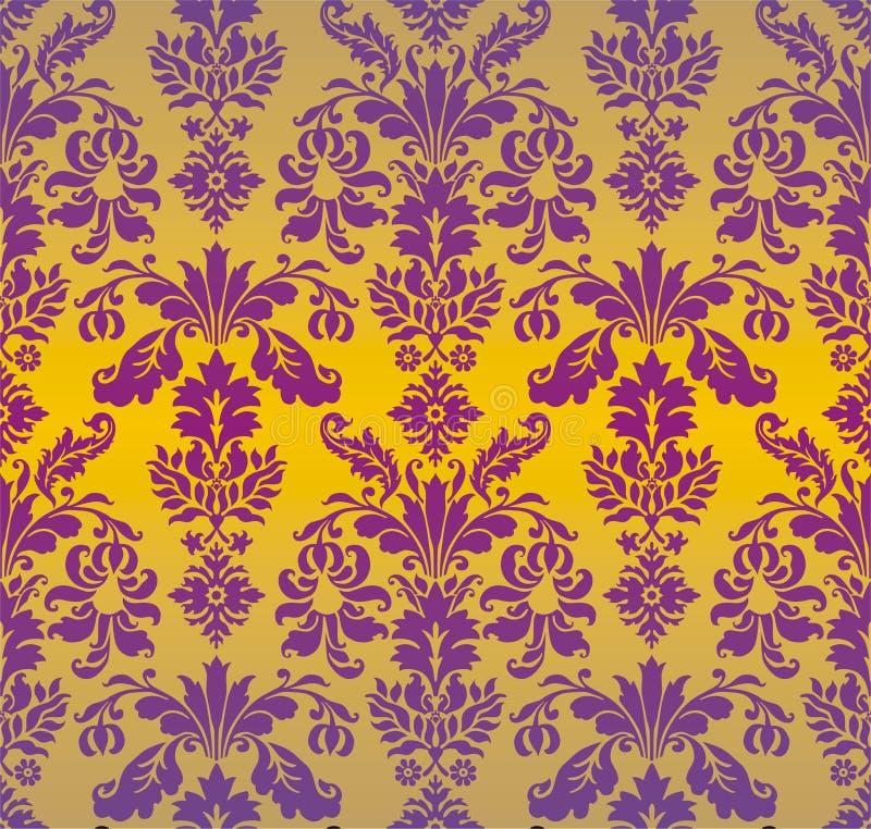 Priorità bassa dell'ornamento del damasco royalty illustrazione gratis