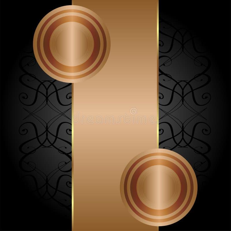 Priorità bassa dell'oro brunita vecchio oggetto d'antiquariato. vettore illustrazione vettoriale