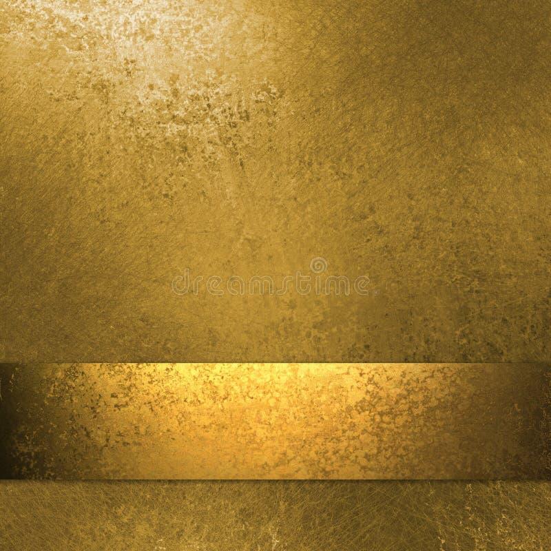 Priorità bassa dell'oro con il nastro illustrazione di stock