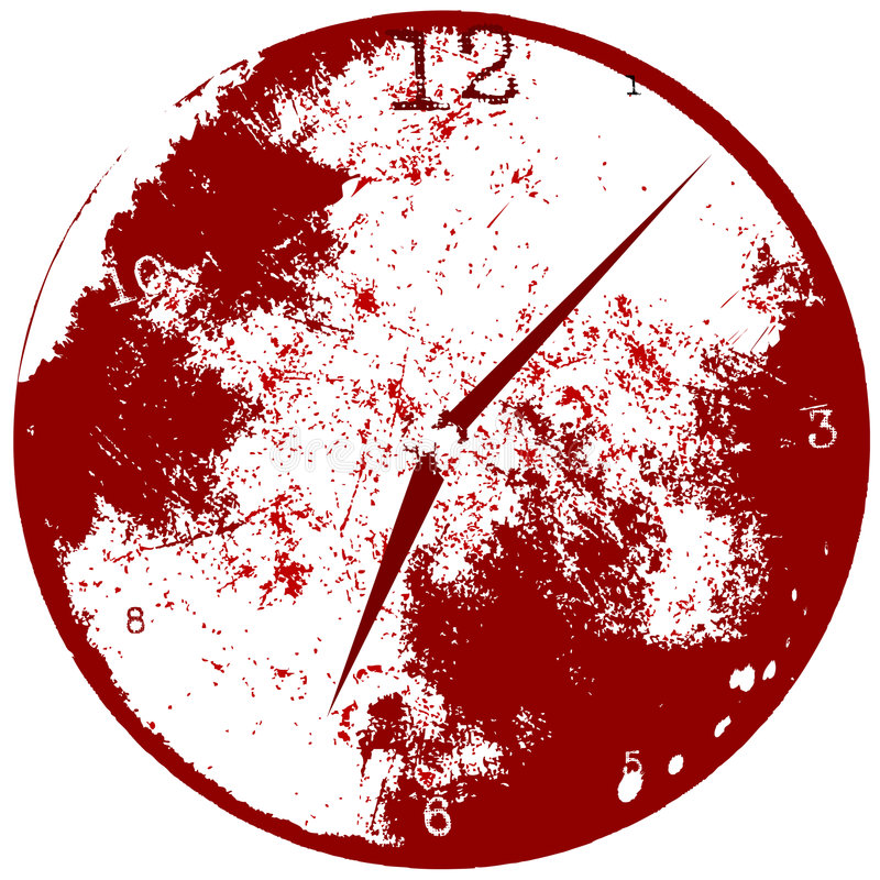 Priorità bassa dell'orologio di tempo di Grunge illustrazione vettoriale