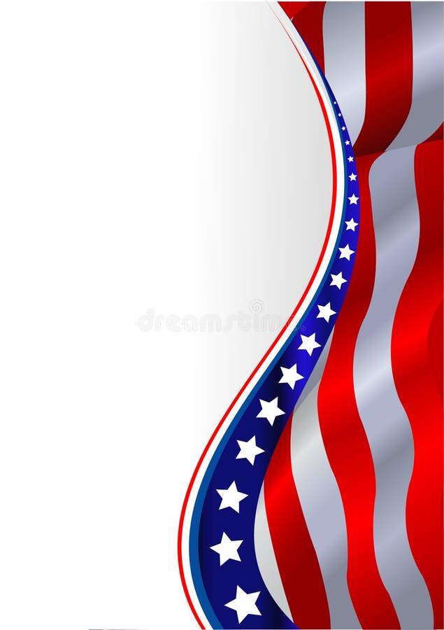 Priorità bassa della bandiera americana illustrazione vettoriale