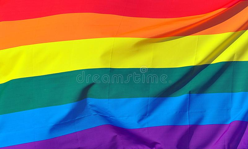 Priorità bassa della bandierina del Rainbow fotografia stock