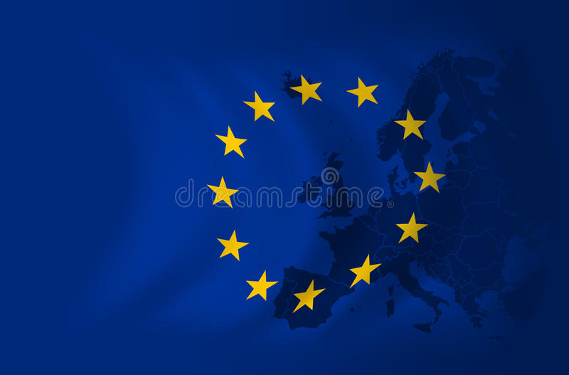 Priorità bassa della bandierina dell'Europa