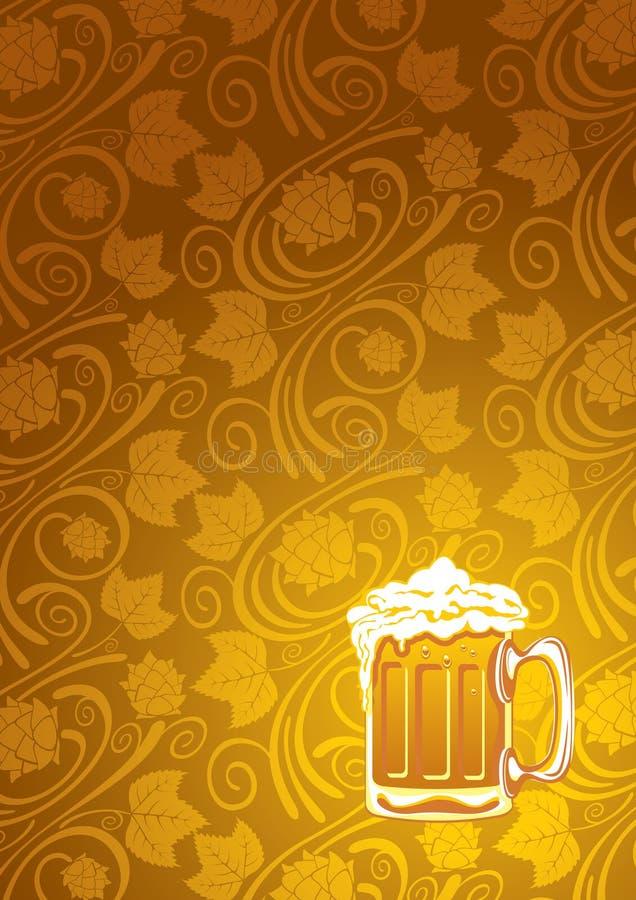 Priorità bassa della birra illustrazione vettoriale
