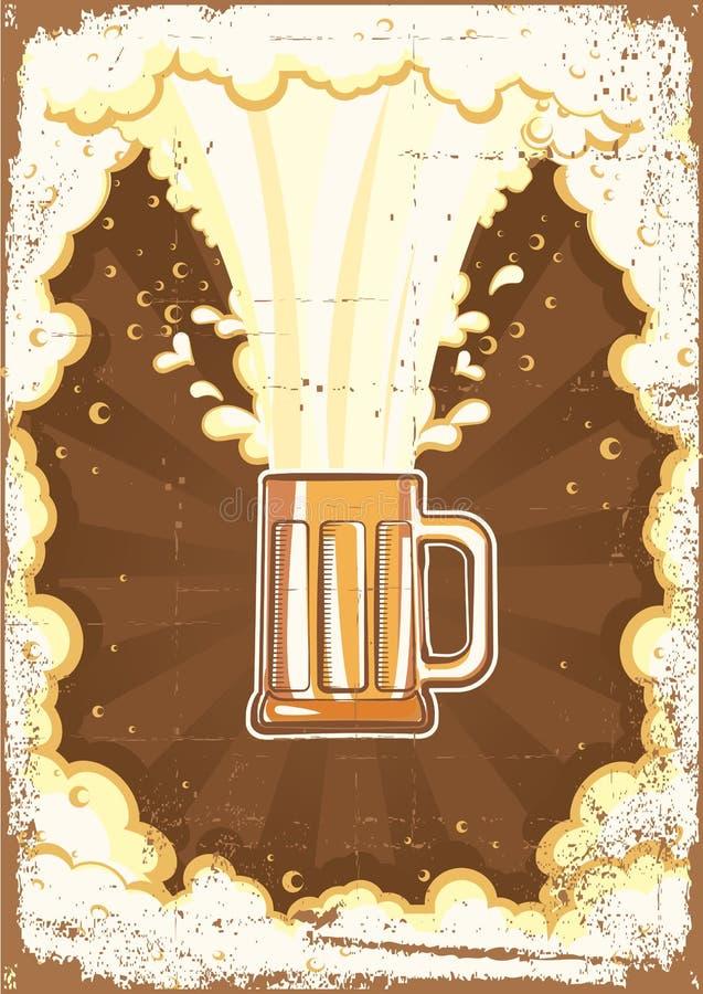 Priorità bassa della birra. illustrazione vettoriale