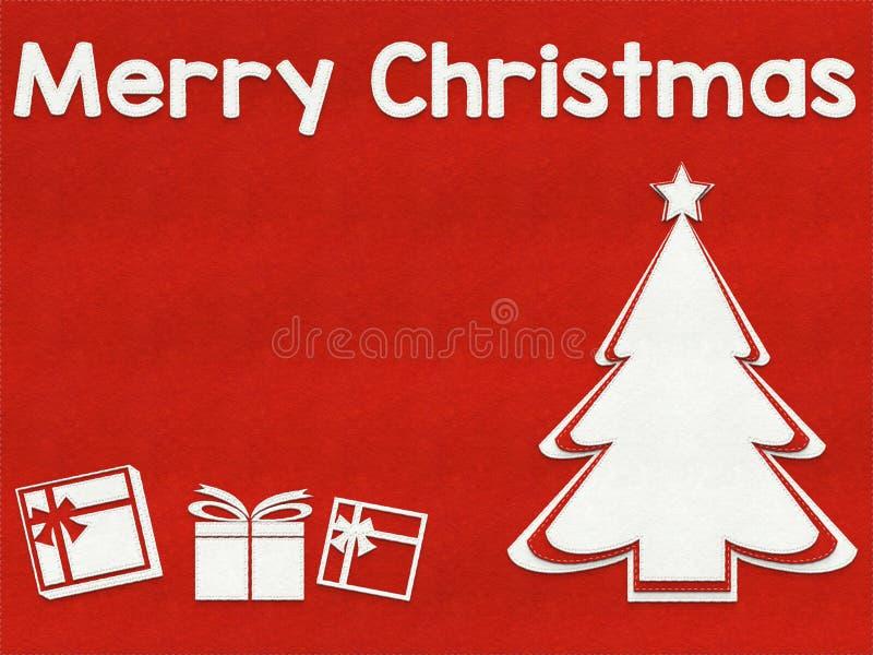 Priorità bassa della cartolina d'auguri di Buon Natale illustrazione vettoriale