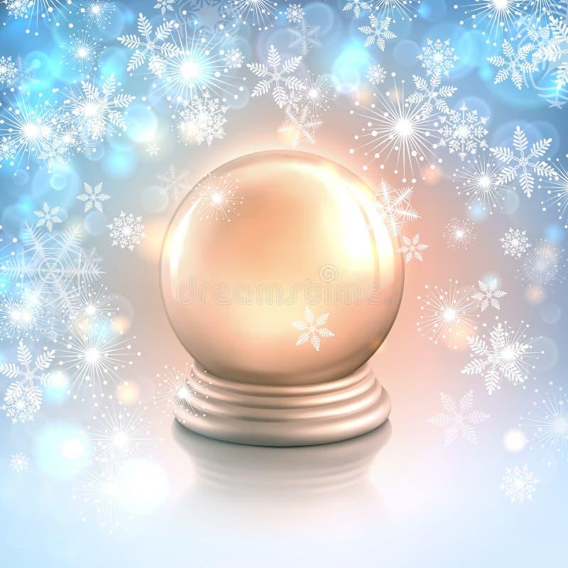 Priorità bassa della cartolina di Natale di vettore con i fiocchi di neve royalty illustrazione gratis