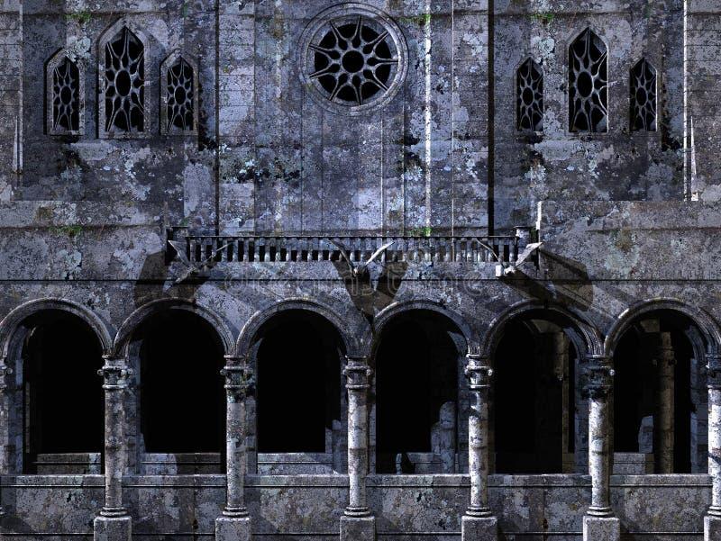 Priorità bassa della cattedrale illustrazione vettoriale