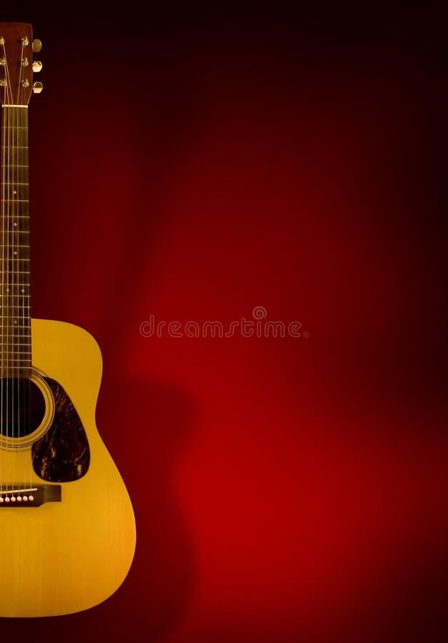 Priorità bassa della chitarra acustica fotografie stock libere da diritti