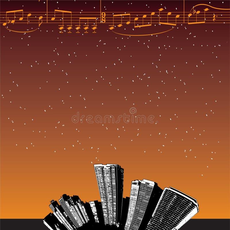 Priorità bassa della città di musica royalty illustrazione gratis