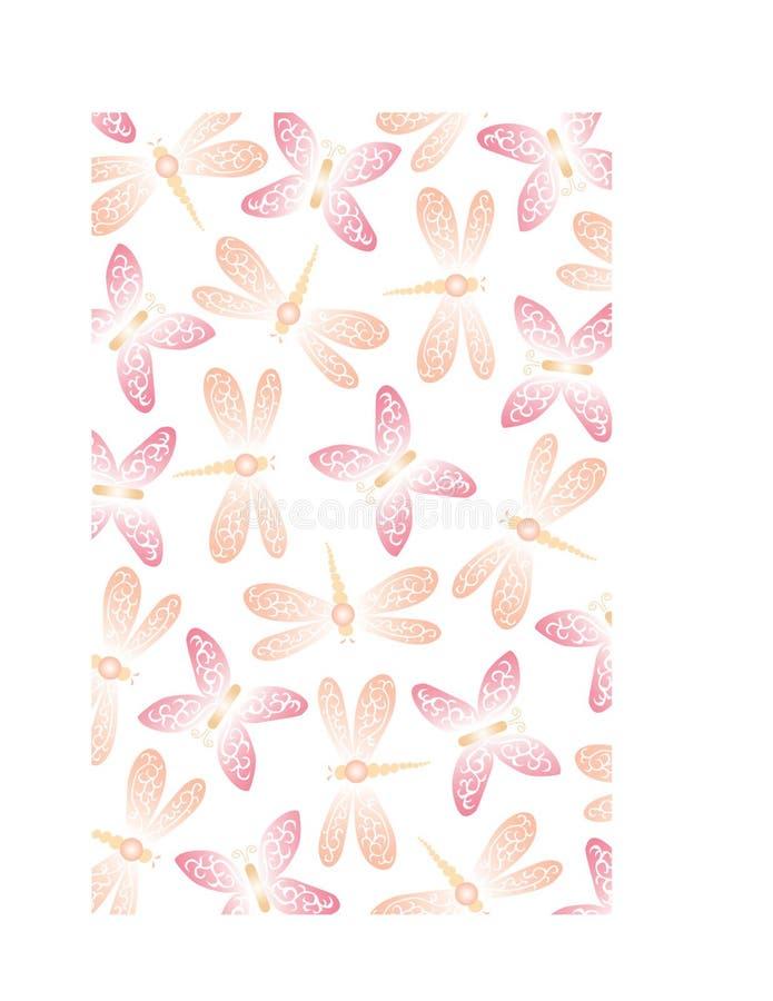 Priorità bassa della farfalla & della libellula illustrazione di stock